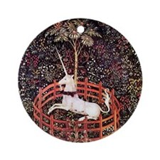 Captive Unicorn Ornament (Round)