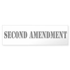 Second Amendment Bumper Sticker (Clear)