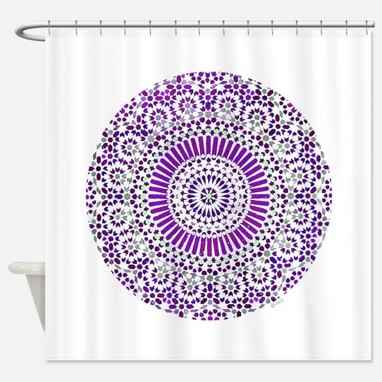 purple crown seventh chakra mosaic circle Shower C