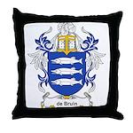 de Bruin Coat of Arms Throw Pillow