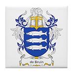 de Bruin Coat of Arms Tile Coaster