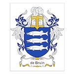 de Bruin Coat of Arms Small Poster