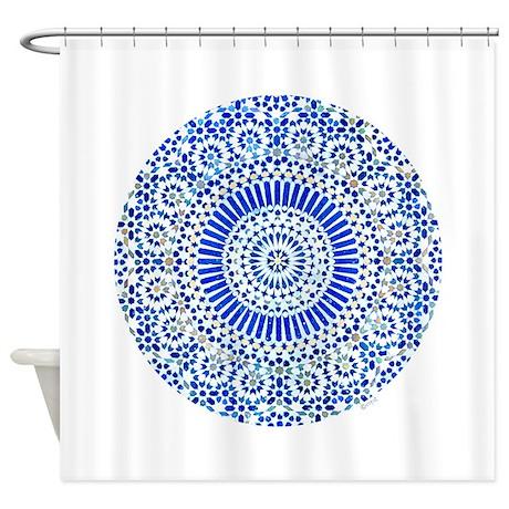 indigo blue third eye sixth chakra mosaic circle S
