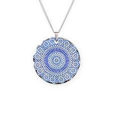 indigo blue third eye sixth chakra mosaic circle N
