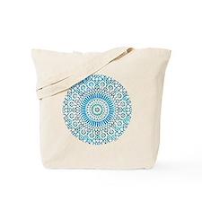 blue throat fifth chakra mosaic circle Tote Bag