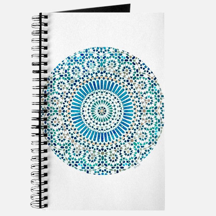 blue throat fifth chakra mosaic circle Journal