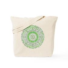 green heart fourth chakra mosaic circle Tote Bag