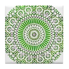 green heart fourth chakra mosaic circle Tile Coast