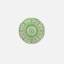green heart fourth chakra mosaic circle Mini Butto