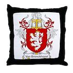 Van Bronckhorst Coat of Arms Throw Pillow