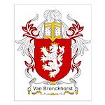 Van Bronckhorst Coat of Arms Small Poster