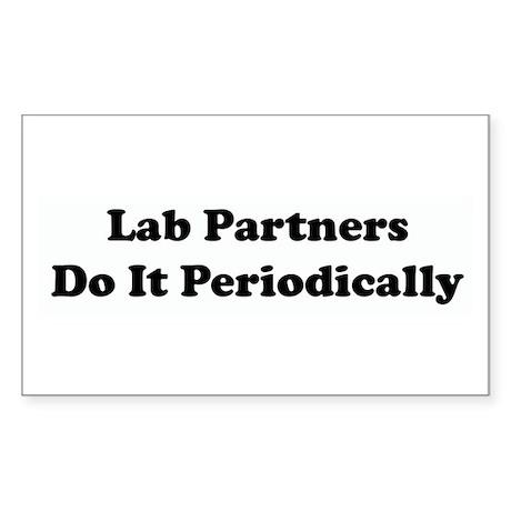 Lab Partners Do It Rectangle Sticker