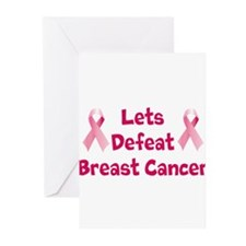 Defeat Breast Cancer Greeting Cards (Pk of 20)