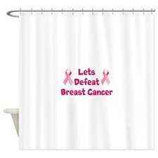 Defeat Breast Cancer Shower Curtain