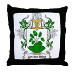 Van den Brink Coat of Arms Throw Pillow