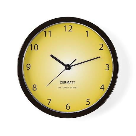 Modern Gold Clock Wall Clock