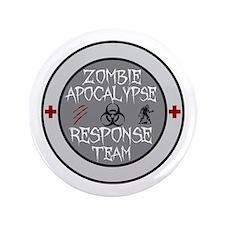 """zombie apocalypse response team 3.5"""" Button"""