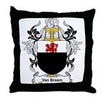 Van Braam Coat of Arms Throw Pillow