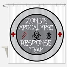 zombie apocalypse response team Shower Curtain