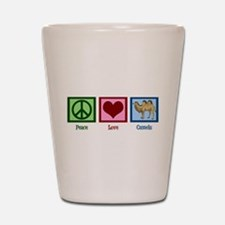 Peace Love Camels Shot Glass