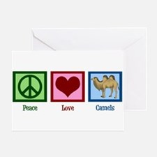 Peace Love Camels Greeting Card