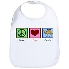 Peace Love Camels Bib