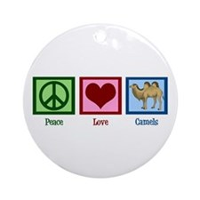 Peace Love Camels Ornament (Round)
