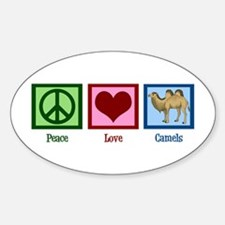 Peace Love Camels Decal