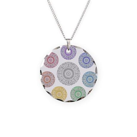 seven chakra circle Necklace Circle Charm