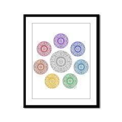 seven chakra circle Framed Panel Print