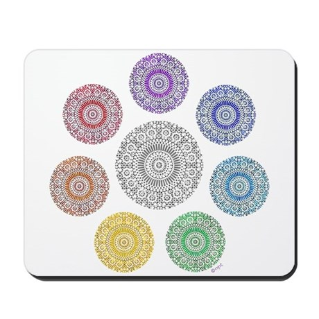 seven chakra circle Mousepad