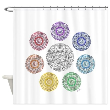 seven chakra circle Shower Curtain