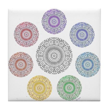 seven chakra circle Tile Coaster