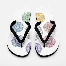 seven chakra circle Flip Flops