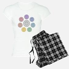 seven chakra circle Pajamas