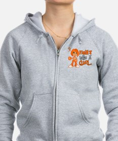 Fight Like a Girl 42.8 Kidney Cancer Zip Hoodie