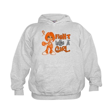 Fight Like a Girl 42.8 Kidney Cancer Kids Hoodie