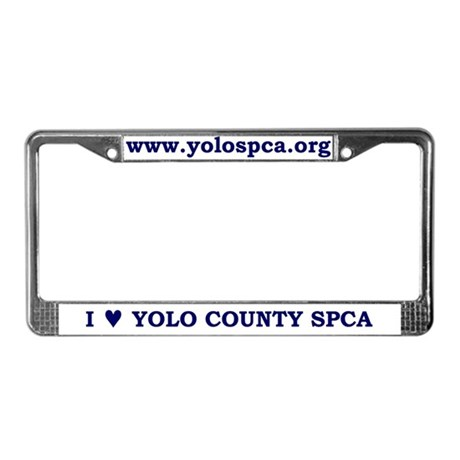 License Plate Frame, Navy Text