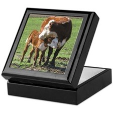 Cow and Calf Keepsake Box
