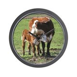 Cow and calf Wall Clocks