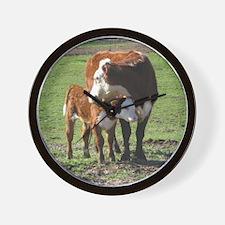 Cow and Calf Wall Clock