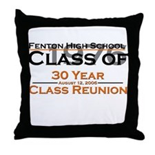 Fenton Class of 1976 30 Year  Throw Pillow