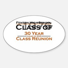 Fenton Class of 1976 30 Year Oval Decal