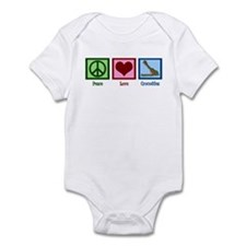 Peace Love Crocodiles Infant Bodysuit