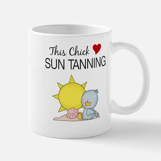 This Chick Loves Sun Tanning Mug