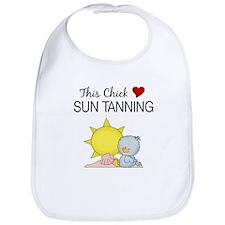 This Chick Loves Sun Tanning Baby Bib