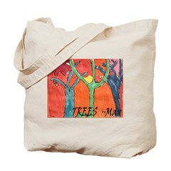 Trees by Max & Jada Thunder Tote Bag