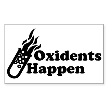 Oxidents Happen Rectangle Sticker