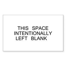 Intentionally Left Blank Decal