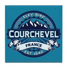 Courchevel Ice Tile Coaster